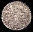 London Coins : A156 : Lot 2766 : Sixpence 1731 Roses and Plumes ESC 1607 EF slabbed and graded LCGS 60