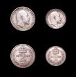 London Coins : A156 : Lot 3368 : Maundy Set 1902 the Threepence possibly a currency issue VF to UNC