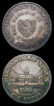 London Coins : A156 : Lot 705 : 19th Century Warwickshire - Birmingham Workhouse (2) Shilling 1811 Davis 12 VF, Sixpence 1812 Davis ...