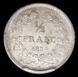 London Coins : A157 : Lot 1410 : France Half Franc 1834B KM#741.2 in a PCGS holder and graded MS64