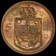 London Coins : A157 : Lot 1585 : Romania 5 Lei 1930KN Specimen KM#48 Ex-Kings Norton Mint Collection in a PCGS holder and graded SP63...