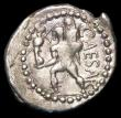 London Coins : A157 : Lot 1764 : Julius Caesar.  Ar denarius.  C, 47-46 BC. Obv; Diademed head of Venus right.  Rev; Aeneas advancing...