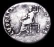 London Coins : A157 : Lot 1799 : Nero.  Ar denarius.  C, 64-65 AD.  Rev; IVPPITER CVSTOS; Jupiter seated l., holding sceptre and thun...