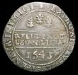 London Coins : A157 : Lot 1900 : Halfcrown Charles I Bristol Mint 1643 Obverse Oxford die without ground line, King wears an unusual ...