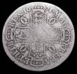 London Coins : A157 : Lot 2351 : Halfcrown 1671 1 over 0 ESC 469 VG the overstrike very clear, only rated R by ESC, but our archive d...