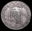 London Coins : A157 : Lot 2387 : Halfcrown 1690 TERTIO edge, No frosting, no pearls ESC 515, the scarcer of the two edge types for th...