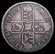 London Coins : A157 : Lot 2429 : Halfcrown 1709E ESC 580 VG with grey tone, Rare, rated R3 by ESC