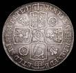 London Coins : A157 : Lot 2442 : Halfcrown 1735 Roses and Plumes ESC 598 NVF/GF the reverse with traces of surface residue in places,...
