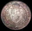 London Coins : A157 : Lot 2495 : Halfcrown 1900 ESC 734 UNC with a colourful tone, especially so on the reverse, Ex-Carlisle 4/7/2003...