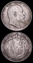 London Coins : A157 : Lot 2534 : Halfcrowns (2) 1903 ESC 748 Fine with an edge knock below the bust, 1904 ESC 749 Good Fine lightly t...