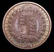 London Coins : A157 : Lot 2628 : Halfcrown 1887 Jubilee Head Proof Davies 641P dies 2A Toned UNC, slabbed and graded CGS 78