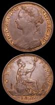 London Coins : A157 : Lot 2926 : Pennies (2) 1876H Narrow date Freeman 89 dies 8+K GEF with traces of lustre, Ex-Tennants 11/10/2006 ...
