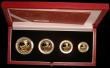 London Coins : A157 : Lot 303 : Britannia Gold Proof Set 2000 Four coin set FDC cased as issued with certificate