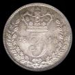 London Coins : A157 : Lot 3383 : Threepence 1845 ESC 2055 Choice UNC and attractively toned, slabbed and graded LCGS 82, the finest k...
