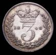 London Coins : A157 : Lot 3386 : Threepence 1848 with double struck first 8 in the date, ESC 2056A About EF with an edge bruise, Very...