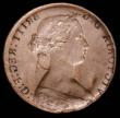 London Coins : A157 : Lot 760 : Mint Error - Mis-Strike Halfpenny undated Victoria Bun Head Obverse 7 Brockage VF