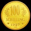 London Coins : A158 : Lot 1024 : Austria 100 Schilling 1927 KM#2842 UNC or very near so and lustrous with minor contact marks