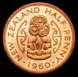 London Coins : A158 : Lot 1253 : New Zealand Halfpenny 1960 VIP Proof/Proof of record KM#23.2 UNC with very good original lustre, som...