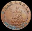 London Coins : A158 : Lot 1892 : Farthing 1798 Pattern Restrike in Copper, Reverse: The ship has disappeared, and also the sea, only ...