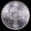 London Coins : A158 : Lot 1948 : Florin 1887 Jubilee Head, Large J in J.E.B ESC 868 Davies 810 dies 1A Choice UNC and lustrous, the r...