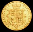 London Coins : A158 : Lot 2082 : Half Sovereign 1873 Marsh 448 Die Number 273 Fine