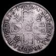 London Coins : A158 : Lot 2184 : Halfcrown 1714 4 over 3 with traces of the underlying 3 to the lower right of the 4, Roses and Plume...