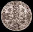 London Coins : A158 : Lot 2188 : Halfcrown 1739 Roses ESC 600 Good Fine
