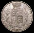 London Coins : A158 : Lot 2214 : Halfcrown 1844 ESC 677 NEF/EF and nicely toned, with a few contact marks, comes with old collector&#...