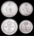 London Coins : A158 : Lot 2324 : Maundy Set 1889 ESC 2504 A/UNC to UNC with minor cabinet friction