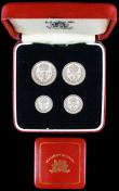 London Coins : A158 : Lot 2333 : Maundy Set 1945 ESC 2562 UNC and lustrous, in a square red Maundy box