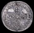 London Coins : A158 : Lot 2420 : Shilling 1686 ESC 1070 NVF with some haymarking, the reverse with uneven toning