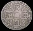 London Coins : A158 : Lot 2446 : Shilling 1724 WCC ESC 1182 VG a collectable example for the grade, comes with old collector's t...