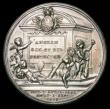 London Coins : A158 : Lot 967 : Oliver Cromwell Memorial 1658 38mm diameter in silver by J.Dassier (struck 1731) Eimer 203, Obverse ...