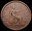 London Coins : A159 : Lot 1014 : Penny 1869 Freeman 59 dies 6+G Near Fine, Rare