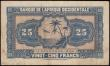 London Coins : A159 : Lot 1688 : French West Africa 25 Francs dated 14th December 1942 series K 0433644, woman at left, (Pick30a), li...
