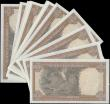 London Coins : A159 : Lot 1847 : Rhodesia 5 Dollars (13) dated 15th May 1979 a consecutively numbered run of ten notes series M23 154...