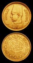 London Coins : A159 : Lot 1987 : Egypt 20 Piastres (2) 1923 (AH1341) KM#339 EF, 1938 (AH1357) KM#370 GEF