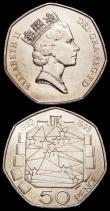 London Coins : A159 : Lot 2869 : Fifty Pence 1992/3 EU Presidency S.4352 (2) UNC lightly toning, many of this issue were melted