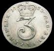 London Coins : A159 : Lot 2922 : Maundy Threepence 1732 Stop over head ESC 2023 NEF/GVF lightly toned