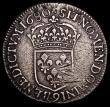 London Coins : A159 : Lot 3116 : France Half Ecu 1680 Rennes Mint, mintmark 9 KM#225.3 About Fine for wear with some scratches and ad...