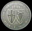 London Coins : A159 : Lot 611 : Halfcrown 1651 Pattern by Blondeau, edge reading TRVTH : AND : PEACE . 1651 olive branch PETRVS . BL...