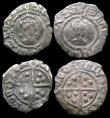 London Coins : A159 : Lot 620 : Hammered a small group (4) Penny Henry VIII First Coinage, Sovereign type, London Mint S.2328 mintma...