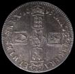London Coins : A159 : Lot 681 : Crown 1695 SEPTIMO ESC 86 approaching UNC and nicely toned, slabbed and graded LCGS 75, Ex-London Co...