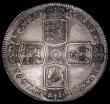 London Coins : A159 : Lot 687 : Crown 1746 LIMA ESC 125 UNC or very near so and deeply tone, the edge with a small impression betwee...