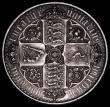London Coins : A159 : Lot 698 : Crown 1847 Gothic ESC 288 UNDECIMO near EF with one tiny edge nick