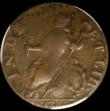 London Coins : A160 : Lot 1285 : USA Halfpenny 1787 Connecticut Mailed Bust left, 'Hercules Bust' Breen 793, listed as very...