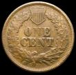 London Coins : A160 : Lot 1289 : USA One Cent 1864L Obvious Doubled date, the underlying 8 above the repunched figure, different to t...