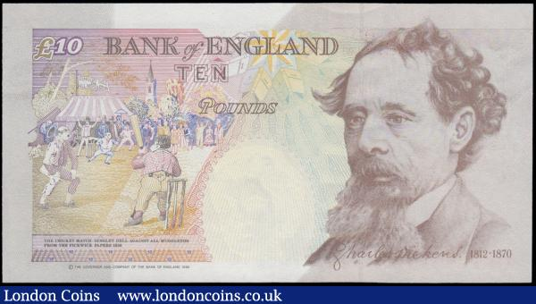 Ten Pounds Kentfield B368 issued 1992 scarce first run REPLACEMENT note M01 802324, (Pick383r), about UNC to UNC : English Banknotes : Auction 160 : Lot 133