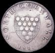 London Coins : A160 : Lot 1625 : 19th Century Cornwall 1811 County, Davis 1 NEF and lustrous with some flan flaws on the obverse, Rar...