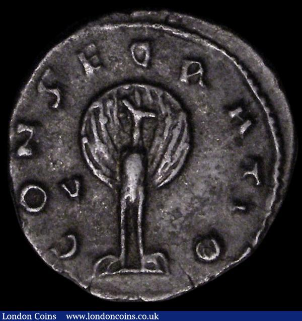 Diva Mariniana, died before 253 AD. Ar antoninianus.  Rome.  Rev; CONSECRATIO; Peacock, with tail spread, standing facing, head left. Cohen 3. MIR 216b. RIC 3.  Nice tone and good silver.  2.27g.  G Fine/VF : Ancient Coins : Auction 160 : Lot 1909